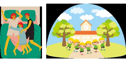 ご家庭・保育園利用イメージ